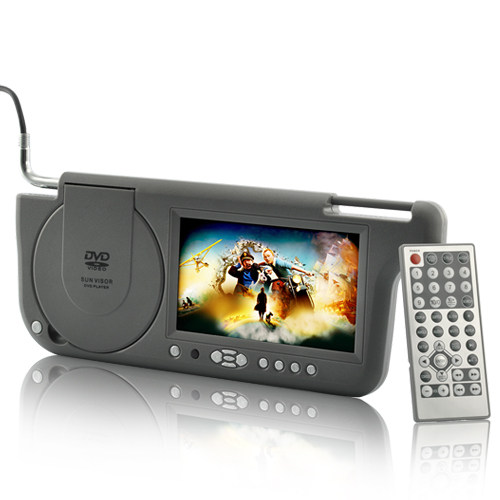 "Wholesale 7"" Sun Visor Car DVD Player with FM Transmitter and Gaming System - Left"