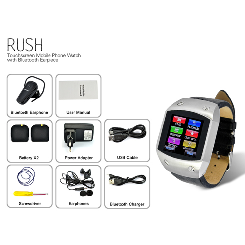 Rush 1 5 Inch Tft Touchscreen Watch Cell Phone With Bluetooth Headset Tsl M264 Us 120 91 Plusbuyer Com