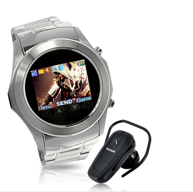 Wholesale Assassin Dawn - Touchscreen Unlocked Watch Mobile Phone with MP4 - Silver