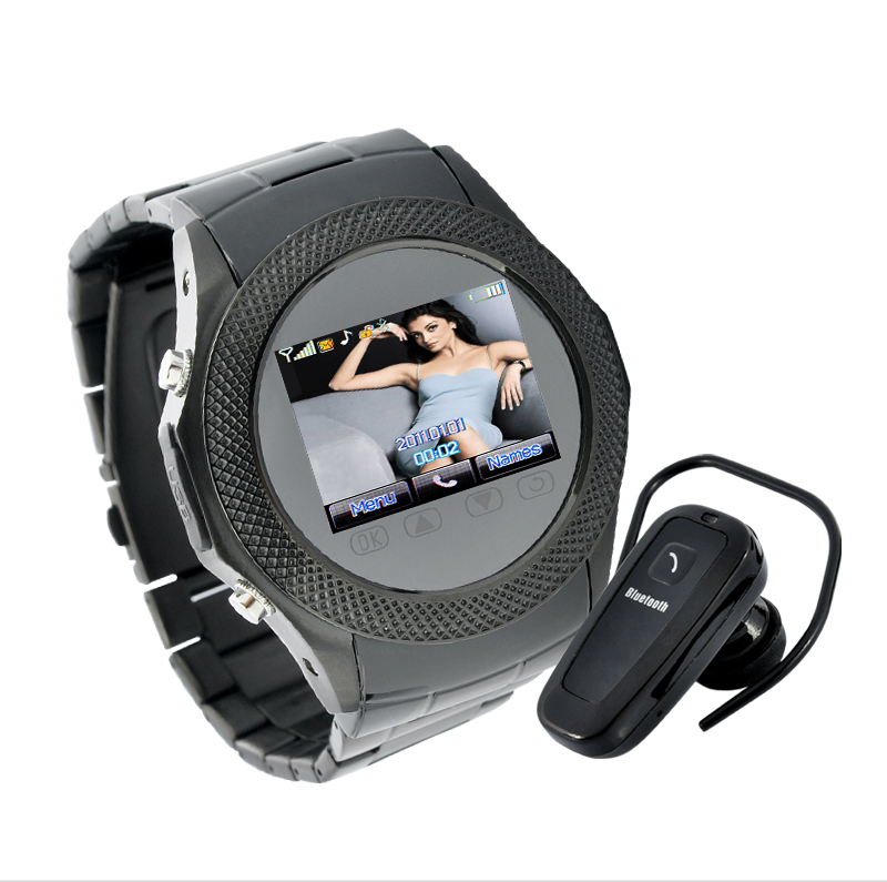 Wholesale Assassin Dusk - Touchscreen Unlocked Watch Mobile Phone with MP4 - Black