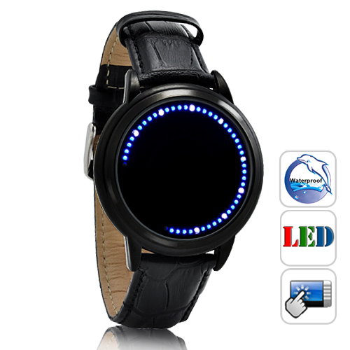Wholesale Abyss Lite - Japanese-inspired Touchscreen LED Watch - Blue