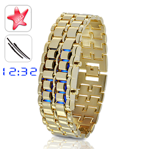 Wholesale Gold Samurai - Japanese-inspired Blue LED Watch