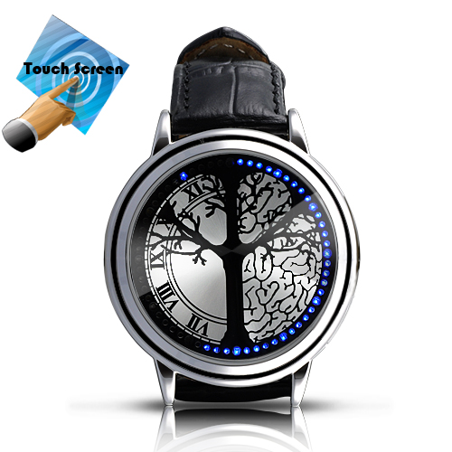 Blue Hybrid - Touchscreen LED Watch with 60 Blue LEDs