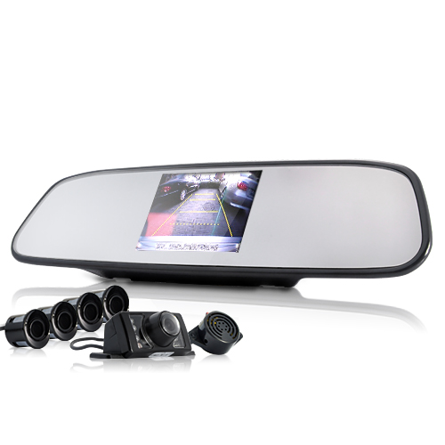 Car Rearview Camera + Parking Sensor + 3.5 Inch Rearview Monitor