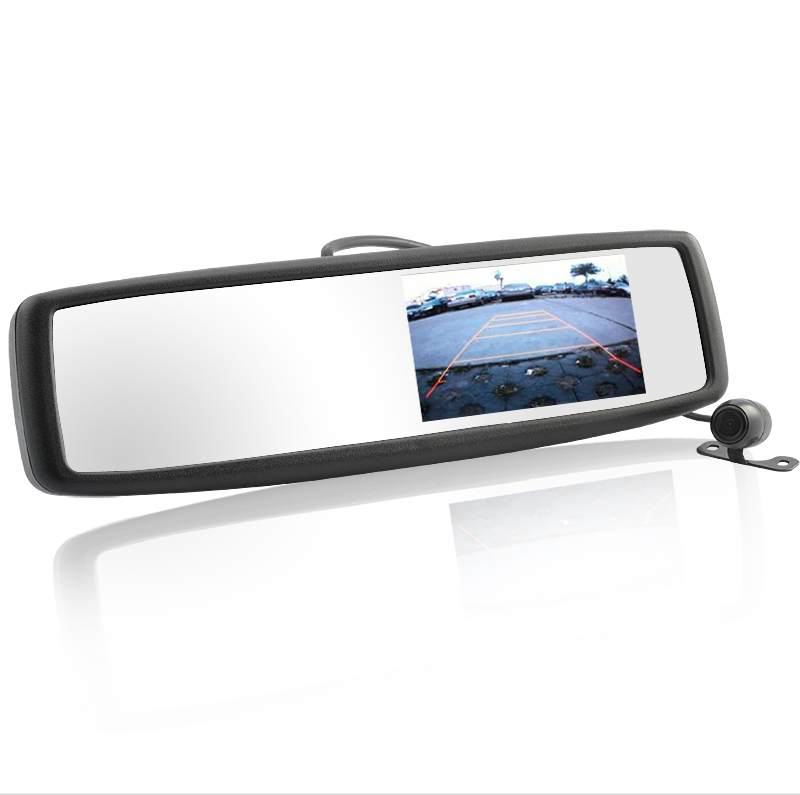 Car Rearview Mirror + 3 Inch Monitor + Waterproof Rearview Camera
