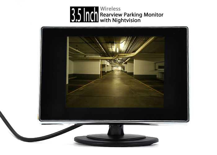 "Wholesale 3.5"" Wireless Rearview Monitor + Nightvision Camera (Weatherproof, Easy DIY)"