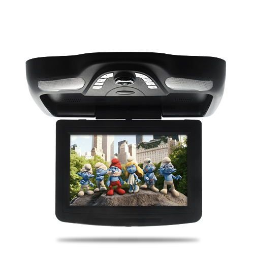 "Wholesale 10.2"" Roof-Mounted Car DVD Player with IR Headphones (Flip Down LCD Monitor, Black)"