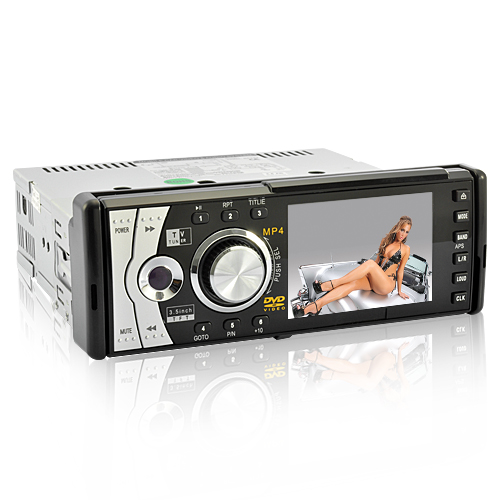 Goliath - 1 DIN Car DVD Player with Detachable Front Hinge Panel