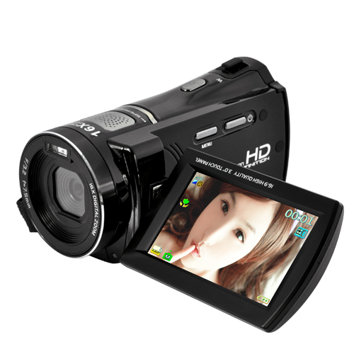 720P HD Family Video Camcorder (3 Inch FlipOut Touchscreen, HDMI/AV Out)