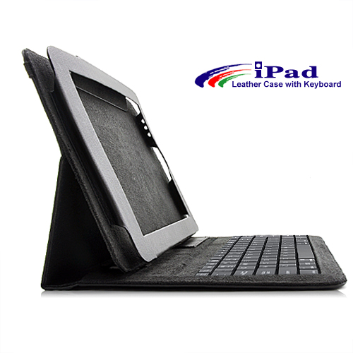 Cool Leather Case Holder + Keyboard - Black