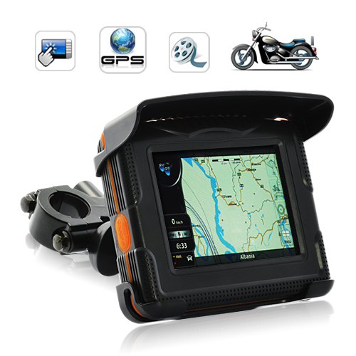 "Wholesale Peaklife - 3.5"" TFT Touchscreen Motorcycle GPS Navigator - Weatherproof"