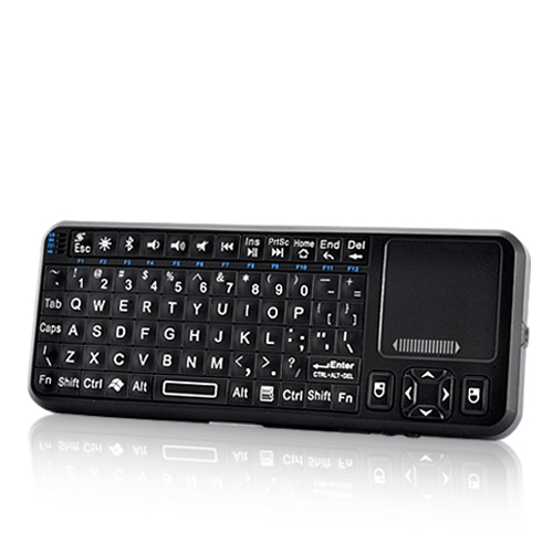 Mini Bluetooth Keyboard with Red Laser Pointer (Touchpad, 80 Keys)