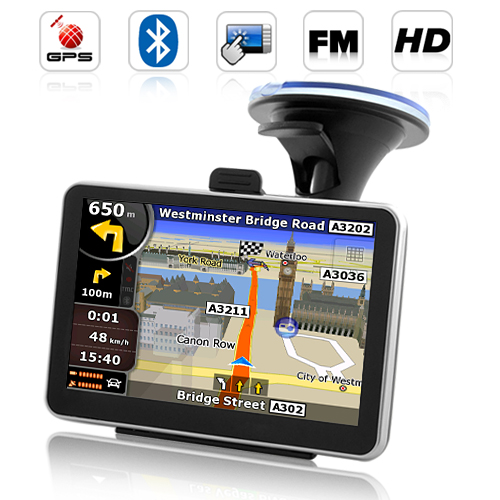 "Wholesale Road Nav - 4.5"" Touchscreen GPS Navigator with FM Transmitter, Bluetooth"
