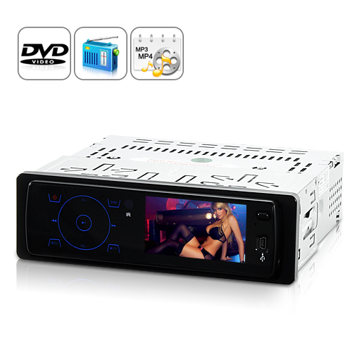 Aurora - 3.2 inch TFT Screen 1 DIN Car DVD Player with Remote
