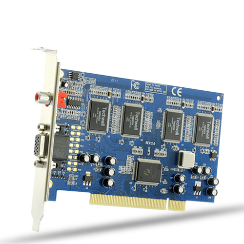 8 Video and 4 Audio Channel DVR Card (Motion Detect, 760x576@30FPS, TV)