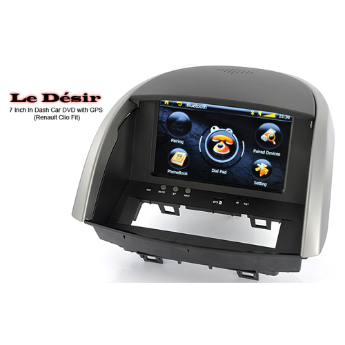 le desir renault clio 7 tft car dvd player with gps bluetooth fm twm c126 us. Black Bedroom Furniture Sets. Home Design Ideas