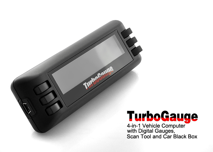 TurboGauge VI - Car Computer + Digital Gauges + OBDII/EOBD Scan Tool + Vehicle Black Box