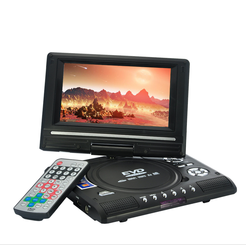 7 Inch Swivel Screen Portable DVD Player (Remote, TV, Region Free)