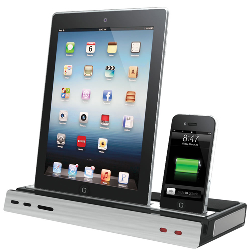 Triple Device iPega Charging Speaker Dock for iPad/iPhone