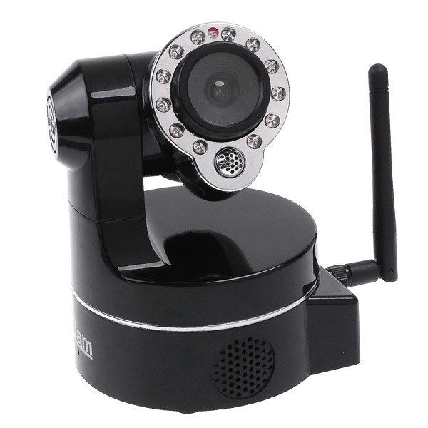 Wholesale 1/4 Inch Color CMOS Sensor Wireless IP Camera (PTZ, 2 Way Audio, Wi-Fi)