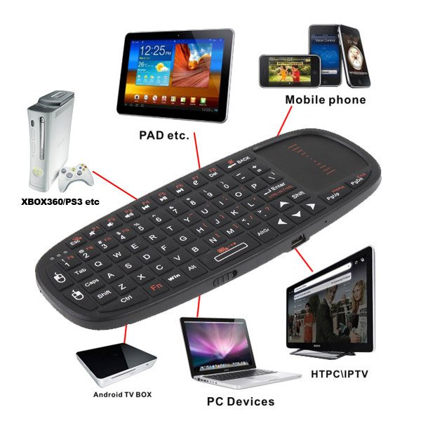 Mini Wireless Keyboard with Touchpad for HTPC/PS3/XBOX 360