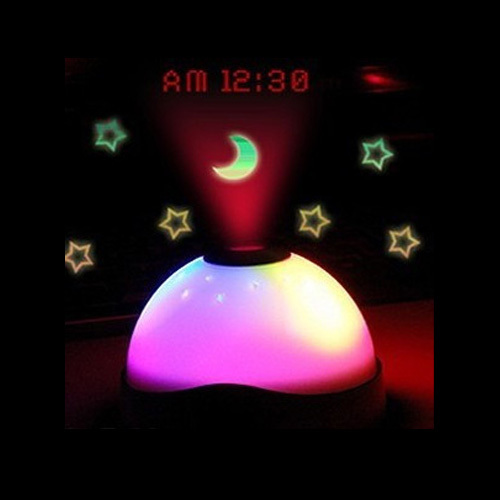 Wholesale Magic Color Change LED Star Night Light Projector Alarm Table Clock