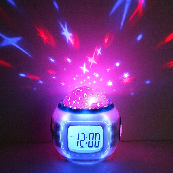 Wholesale Starry Sky Projection Calendar Thermometer Alarm Music Clock