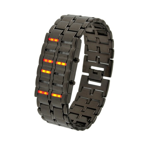 Wholesale Waterproof Red LED Watch with Metal Chain