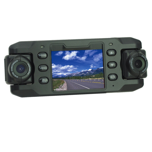 Dual-Lens HD 2.3 inch LCD Multifunctional Car DVR with Night Vision