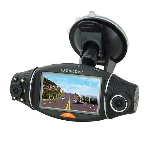 2.7 inch Display Car DVR with Dual Camera & Night Vision