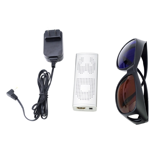 1080p HDMI Mini 2D to 3D High-Definition Converter w/ 3D Glasses