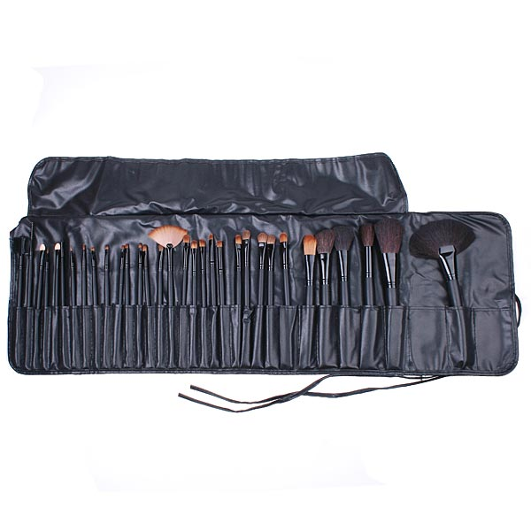 32 Pieces Makeup Brush Set with Black Pouch Bag i