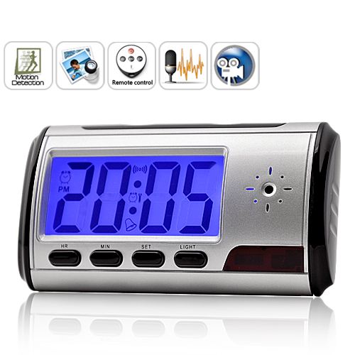 Wholesale Digital Clock Camera 4GB with Motion Detection and Remote Control