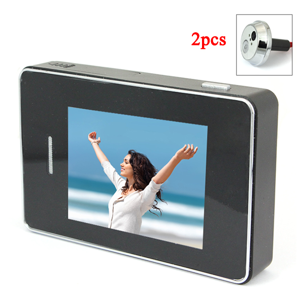 Wholesale 2.8 Inch Touch Screen Digital Peephole Video Doorbell with 2-LED IR Night Vision