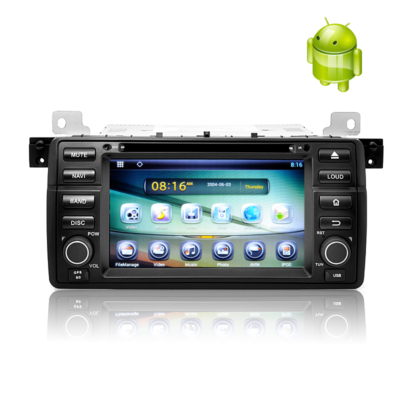 Wholesale 1 DIN Android 4.2 Car DVD Player for BMW E46 (7 Inch Touch Screen, Dual Core CPU, GPS, 1GB RAM + 8GB ROM)