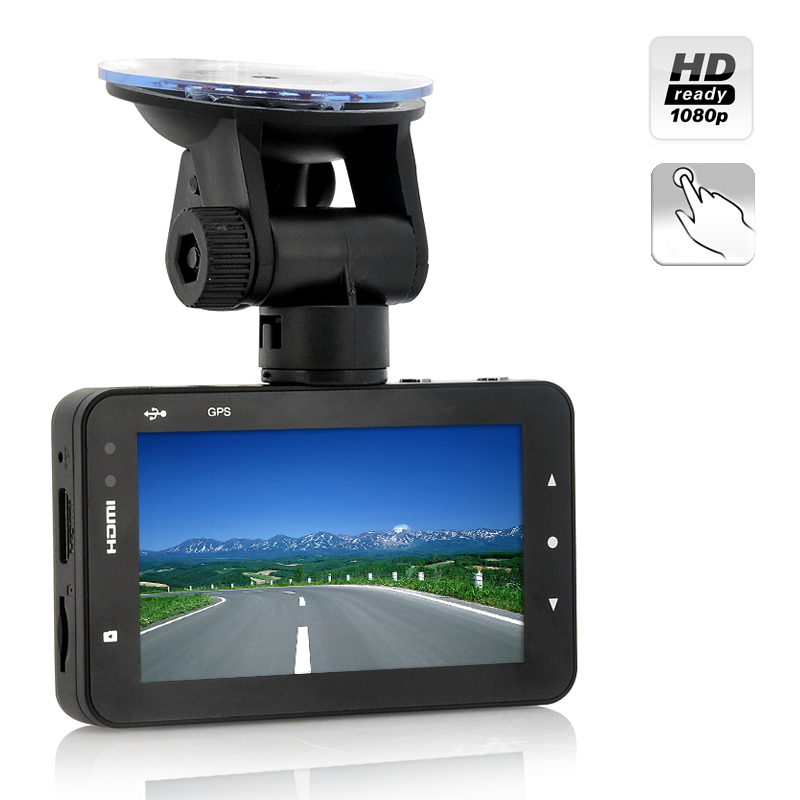 Wholesale 3 Inch Touchscreen 1080p Full HD Car DVR (170 Degree Viewing Angle, H.264, G-Sensor, Motion Detection)