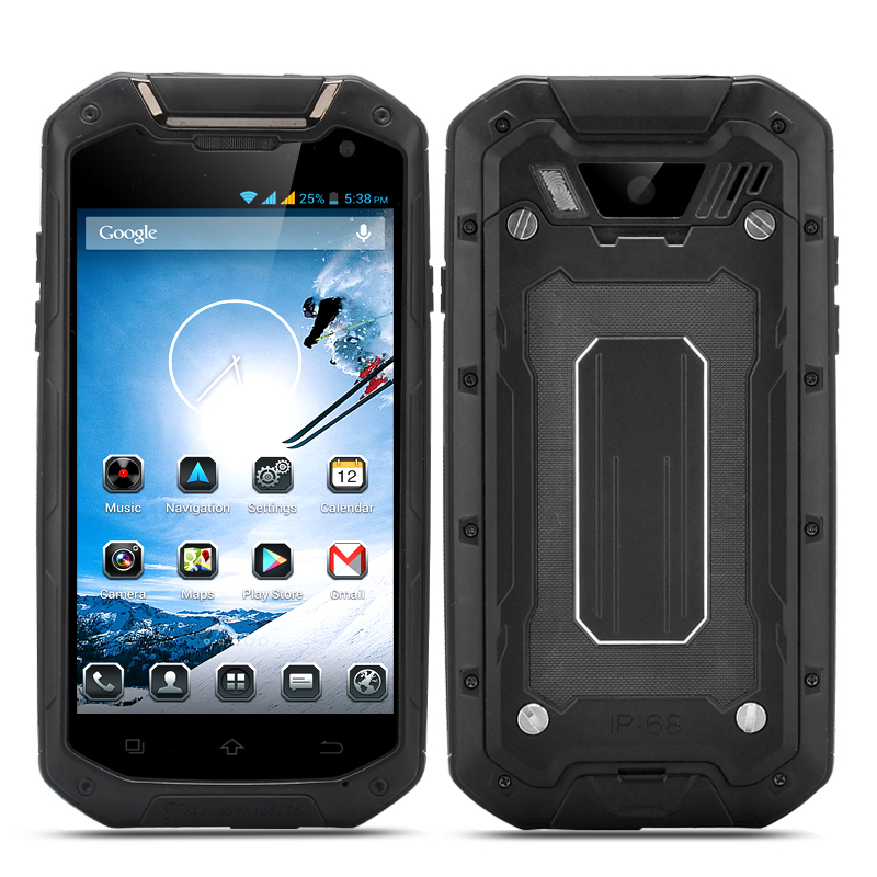 Wholesale Commando - 4.5 Inch Quad Core Android Phone (720p, 1GB RAM, IP68 Waterproof, Shockproof, Dust Proof, Black)