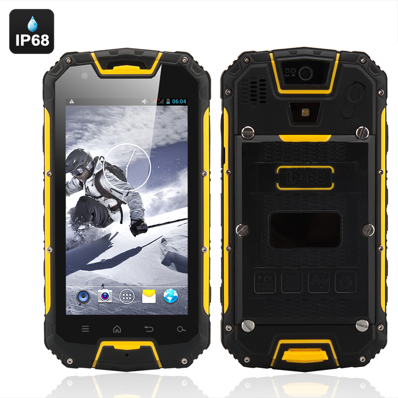 Wholesale Apex - 4.5 Inch Dual SIM Rugged Smartphone (3G, Dual Core, IP68 Waterproof + Dust Proof, Shockproof, Yellow)