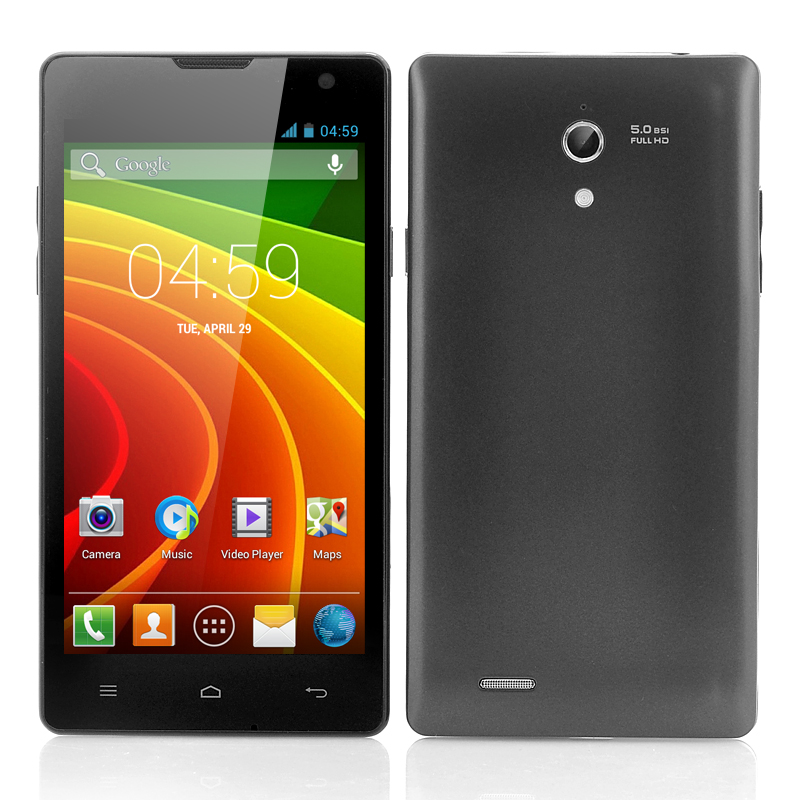 Wholesale 4.7 Inch Dual SIM Android Smartphone (Dual Core 1.3GHz CPU, 1GB RAM, 4GB ROM, Black)