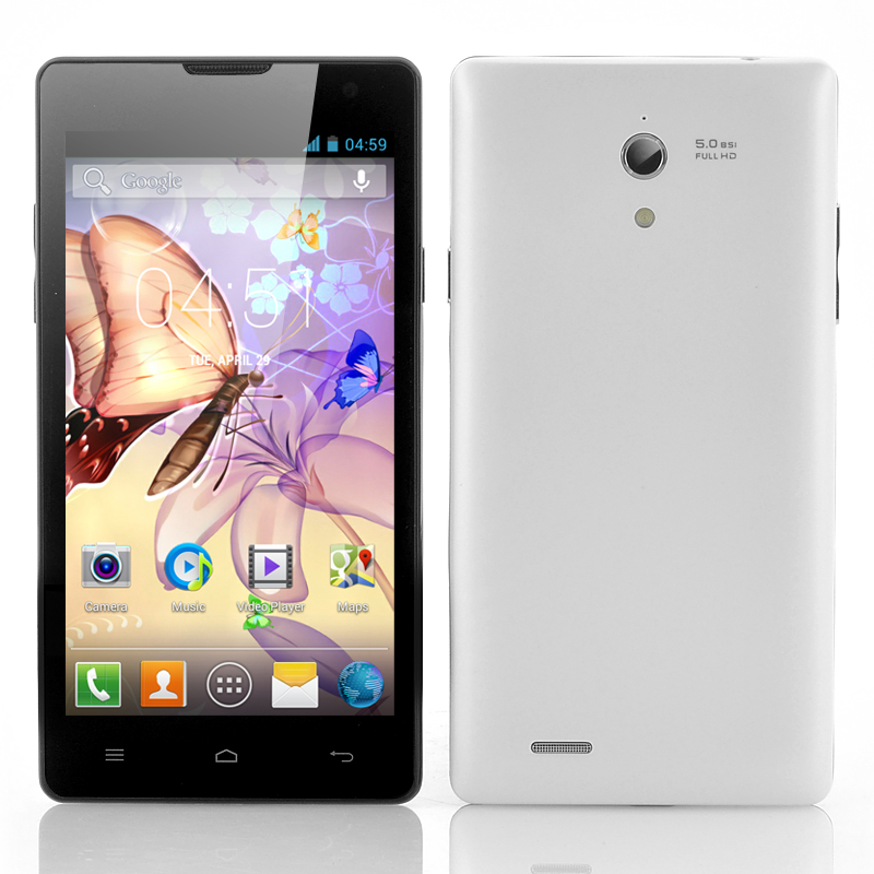 Wholesale 4.7 Inch Dual SIM Android Smartphone (Dual Core 1.3GHz CPU, 1GB RAM, 4GB ROM, White)