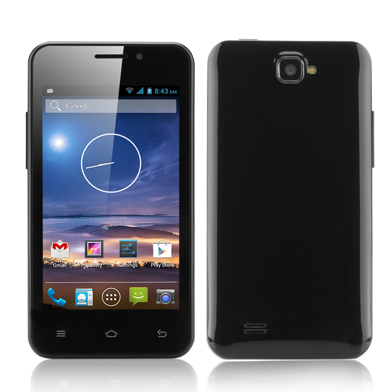 Wholesale Tegu - 4 Inch Android 4.2 Smartphone (Dual SIM, Dual Core CPU, Black)