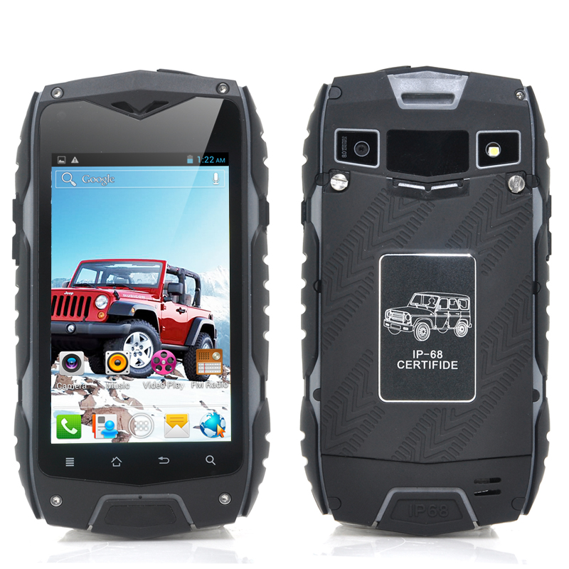 Wholesale RockDroid - 4 Inch Rugged Android Phone (1.3GHz Dual Core CPU, IP68 Waterproof + Dust Proof + Shockproof, Black)