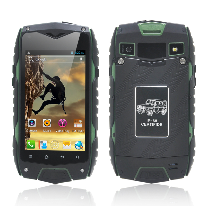 Wholesale RockDroid - 4 Inch IP68 Rugged Android Smartphone (Dual Core, IP68 Waterproof, Dust Proof, Shockproof, Green)