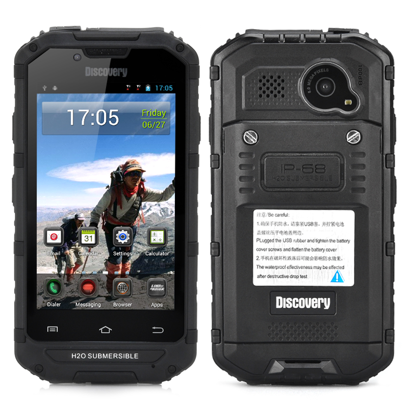 Wholesale 4 Inch Rugged Android Smartphone (CDMA 3G, IP68 Waterproof, Dust Proof, 8MP Rear Camera, Black)