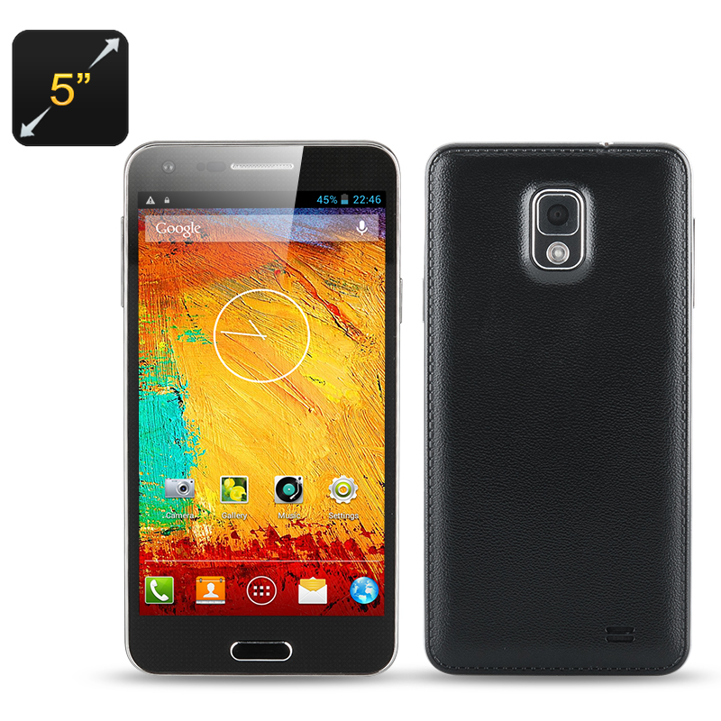 Wholesale Note 3 Mini - 5 Inch Dual SIM Octa Core Cell Phone (1.7GHz CPU, 1GB RAM, 8GB ROM, Android 4.2, Black)