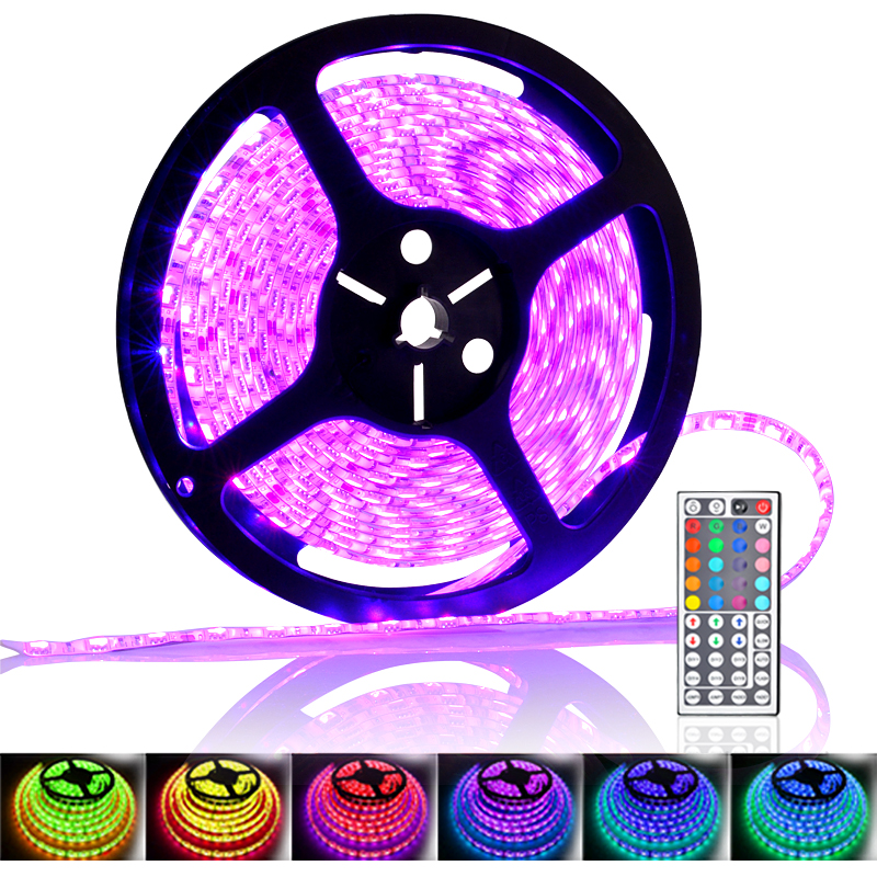 Wholesale RGB Color Changing Waterproof LED Strip (IR Remote Control, 5 Me