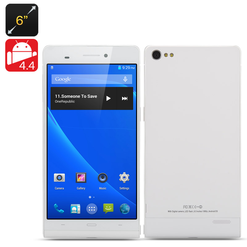 Wholesale Gravity II - 6 Inch NFC Android 4.4 Phone (1.3GHz Quad Core CPU, 720p, 1GB RAM, 8GB ROM)