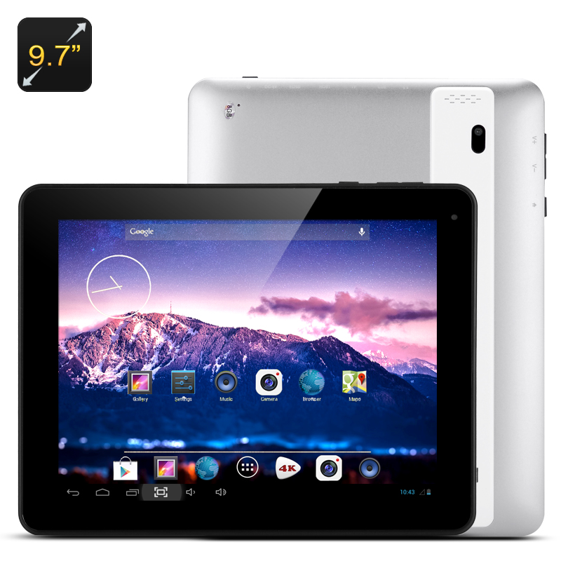Wholesale 9.7 Inch Quad Core Android Tablet (A31S Cortex A7 CPU, 1024x768, 1GB RAM + 8GB ROM)