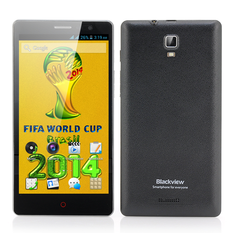 Wholesale Blackview JK890 5.5 Inch Android 4.2 Phone (960x540, MTK6572 Dual Core 1.3GHz CPU, 4GB ROM, Black)