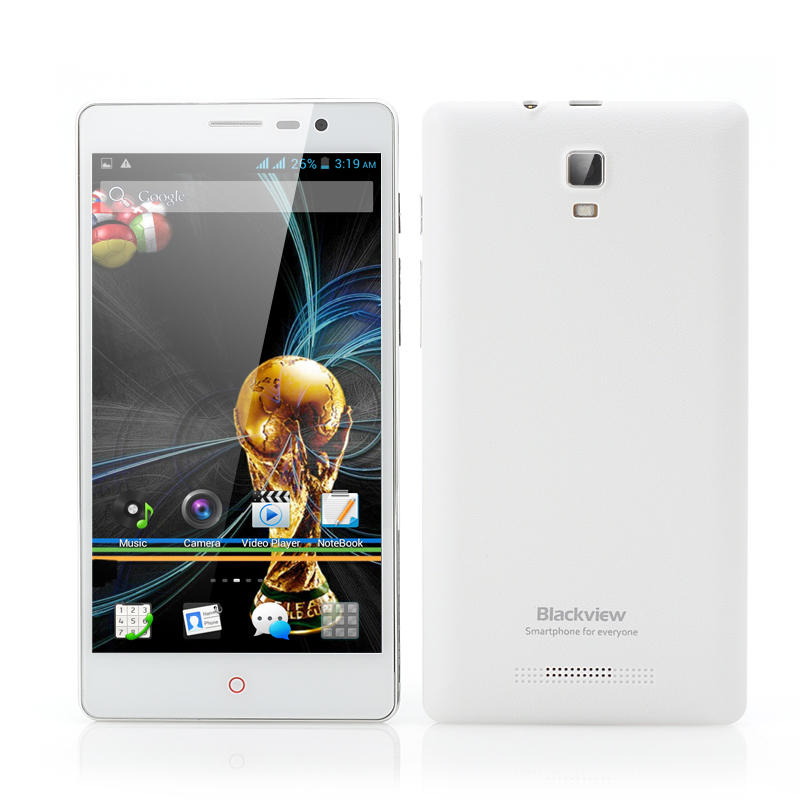 Wholesale Blackview JK890 5.5 Inch Android 4.2 Phone (960x540, MTK6572 Dual Core 1.3GHz CPU, 4GB ROM, White)